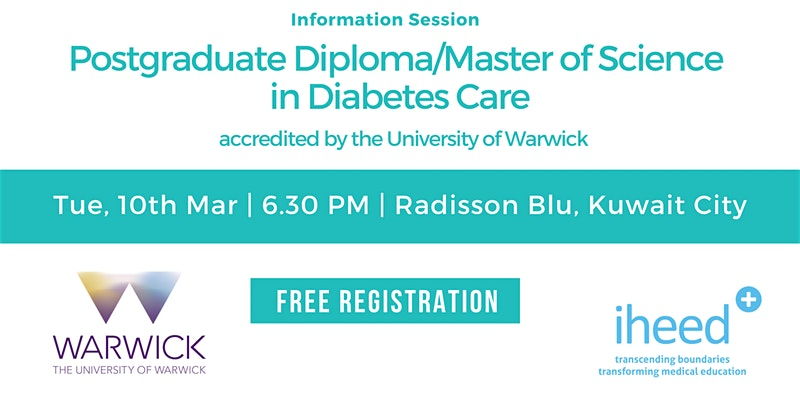 Pg Diploma Diabetes: Warwick University- Info session