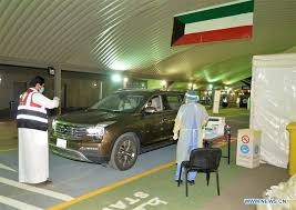 Kuwait launches drive-through COVID-19 testing centre
